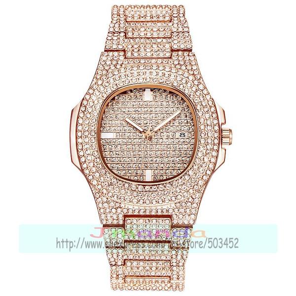 50 unids / lote dama de lujo reloj de cristal completo envoltura de cuarzo de diseño casual reloj de pulsera para mujeres al por mayor bling