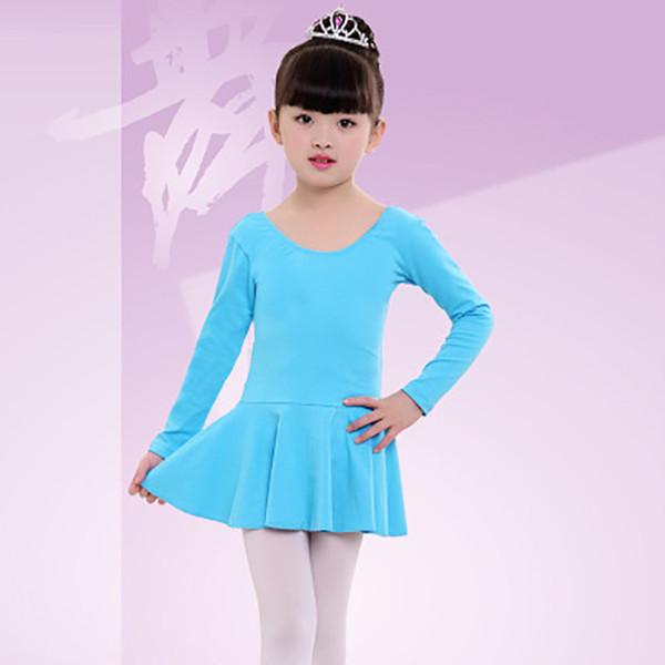 Gymnastics Leotard for Girls Ballet Dress Kids Cotton Ballet Dance Tutu Dress Child 4 Color Stage Dancewear Ballerina Clothes