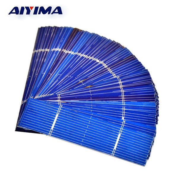 polycrystalline silicon AIYIMA 50pcs Panel 0.25W 0.5V 0.5A 76*19mm Polycrystalline Silicon Panel Solar Cell DIY Charger Battery