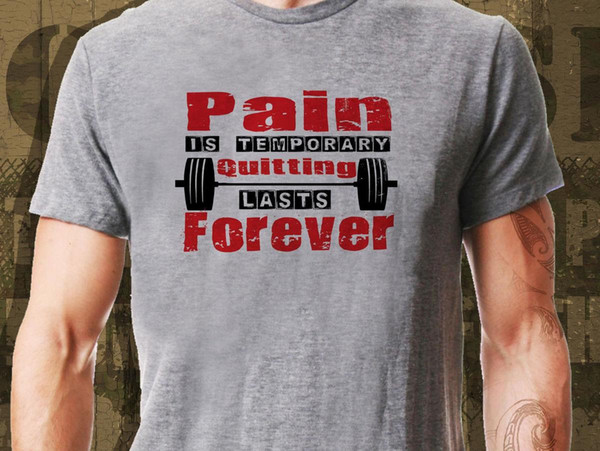 Pain Is Temporary... Workout Crossfit Fitness Strength Core T-Shirt Ideal Gift