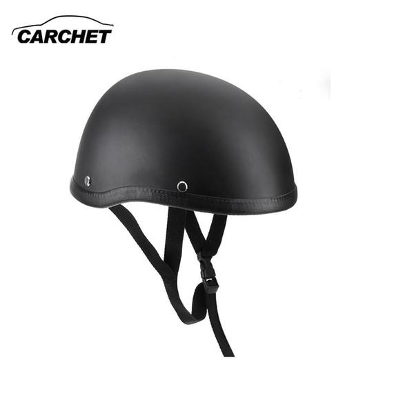 top popular Motorcycle Helmets Half Helmet 54-60cm Unisex Protection Helmet Black Capacete Half Shell Helm Matte Retro Racer Motocross 2021