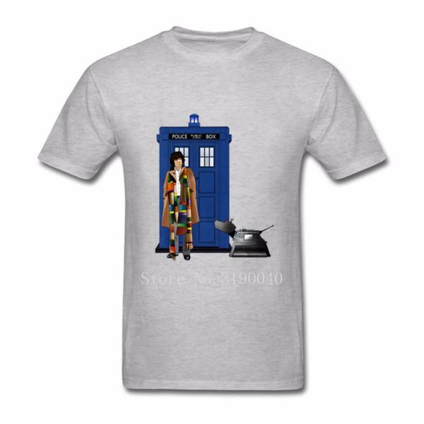 8520e2313e 2018 hombres de moda 4 º médico y K-9 camisetas Doctor Who camiseta de