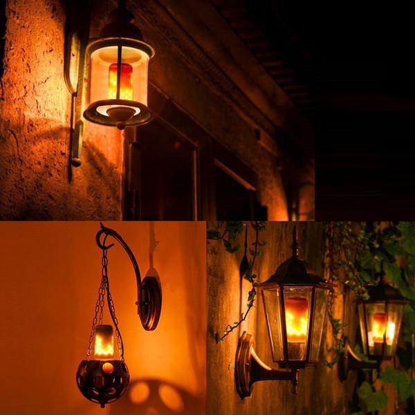 E27 2835SMD 7 W 3 Modos de 90 Efeito Chama Lâmpadas de Fogo Cintilação Emulação Decorativa Chama Lâmpadas Para O Natal Decoração de Halloween