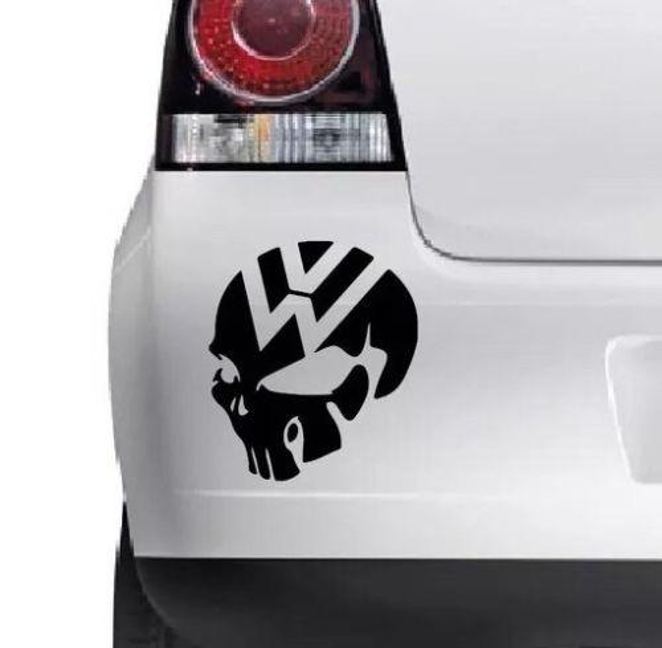Car styling for VW SKULL car window/bumper vdub euro t5 van golf polo passat vinyl decal sticker