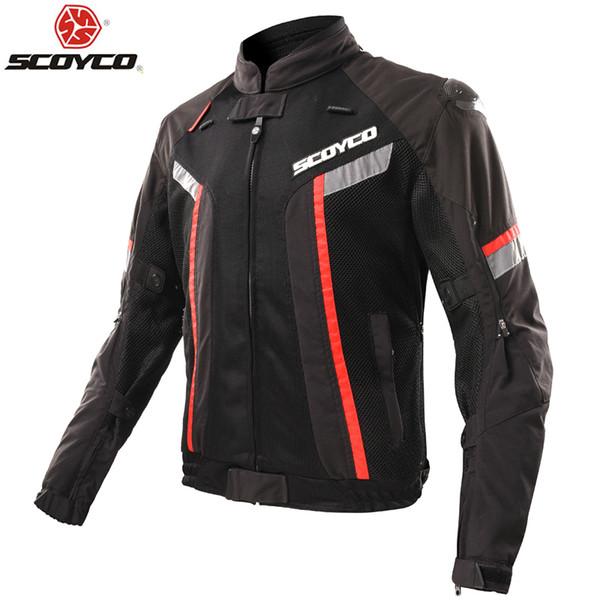 Summer New SCOYCO men's coat mesh Motorcycle riding suit Jackets knight Crash proof suit Motorbike JK72