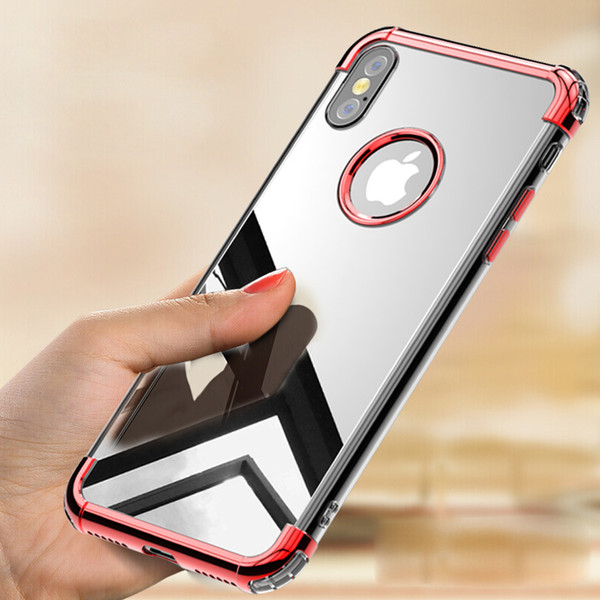 For Iphone 8 Plus Case 3in1 Defender Case Soft TPU Bumper Clear Hybrid Back Cover For Iphone 9 9plus X 8 8plus More Colors