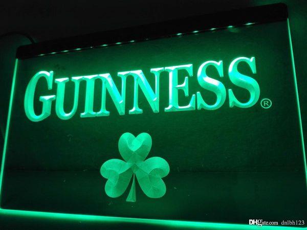 LE095g- Guinness Beer Shamrock Bar LED Neon Light Sign