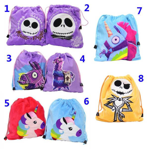 7e4dbc1c84a98 Fortnite Draw pockets Kids Draw string Bag 3D Anime Fortnite Game Printed  Lace Bag Craft Storage Pockets Packbag Backpack Black String Sack