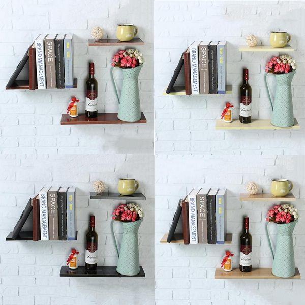 Satın Al Basit Ahşap Dekoratif Duvar Raf Depolama Raf Organizasyon Için Mutfak çocuk Odası Diy Duvar Dekorasyon Tutucu Ev Dekor 394