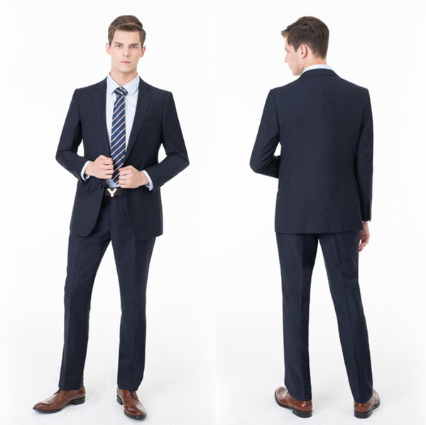 Handsome Cyan Men Wedding Suits Slim Fit Bridegroom Formal Wear Best-men Groom Tuxedos Suits Business Men Wear(Jacket+Pants) ST0003