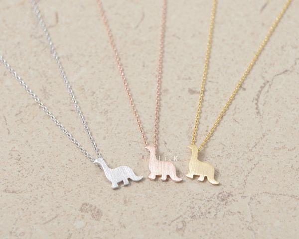DANGGAO fashion Dinosaur Jewelry pendant Necklace for women girl child choker chain necklace cute Christmas birthday gift idea