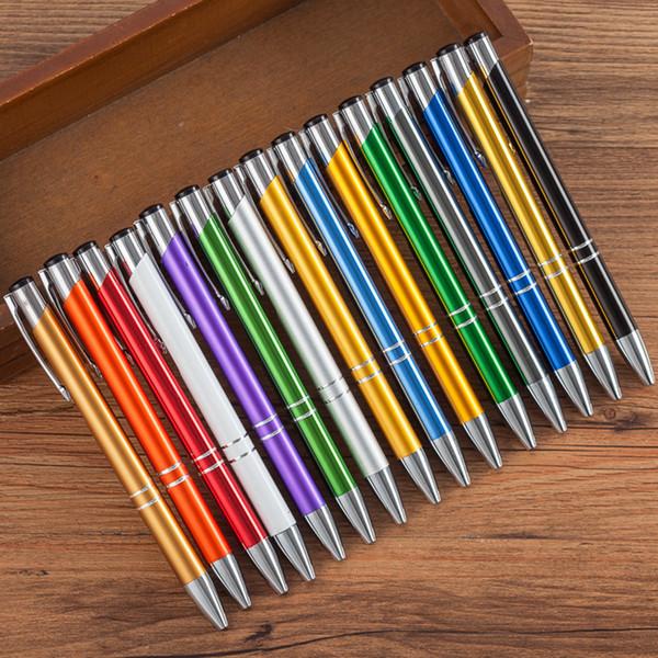 500 pz metallo press penna a sfera Nero inchiostro blu inchiostro penna personalizzata stampato logo Cancelleria ufficio affari firma regalo