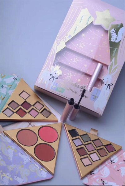 NEW Makeup Set Faced Under the Christmas Tree Contains Two eyeshadow Palette and One Blush Better Than Sex Mascara 4in1 Gifts Cosmetics DHL