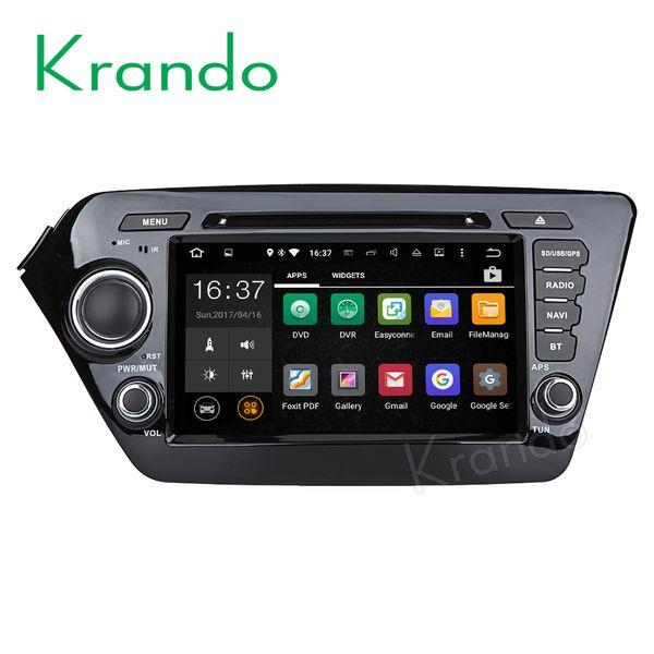 "Krando 8"" Android 7.1 car dvd radio gps palyer for Kia K2 RIO 2011+ audio navigation multimedia system WIFI 3G DAB+"