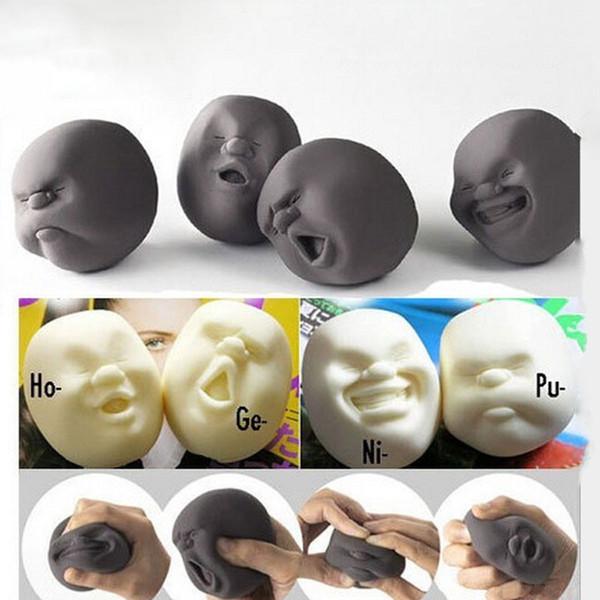 Nueva Emoción Humana Face Vent Ball Juguetes Resina Relax Pop Adultos Novedad Juguetes para Aliviar el Estrés Pelota antiestrés juguetes CX674508