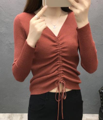 Moda de buena calidad 18 otoño invierno Mujeres suéter alto elástico Sólido Jersey de cuello alto mujeres delgadas sexy apretado Bottoming Jerseys de punto