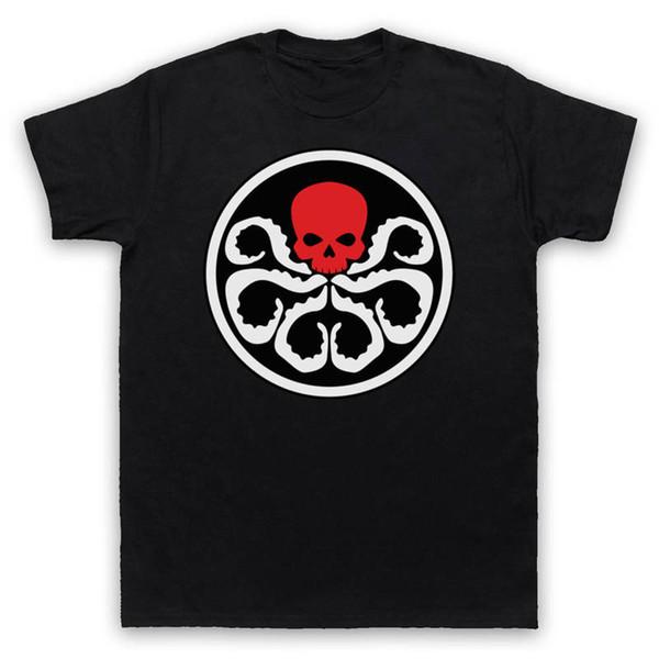 Print Tee Shirts Design O-Neck Short-Sleeve Captain America Hydra Red Skull T Shirts For Men