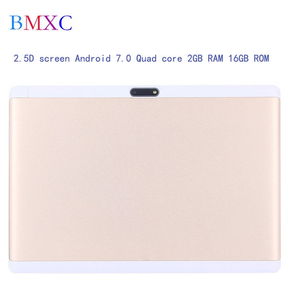 2018 New 2.5D screen 10.1 inch tablet Android 7.0 Quad core 3G Kids tablets IPS HD 2GB RAM 16GB ROM Bluetooth GPS tablet 10 inch