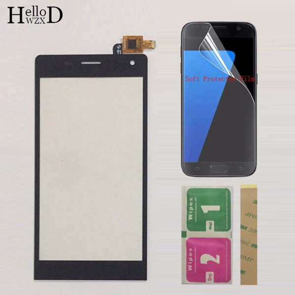 Mobile Touch Screen Panel TouchScreen For Highscreen Verge Touch Screen Digitizer Front Glass Sensor Touchpad + Protector Film