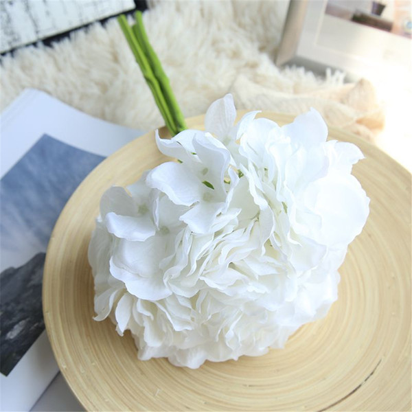 Rose Hydrangea Artificial Flowers European Silk Rose Flower Bouquet For wedding DIY Home Vase party Decoration