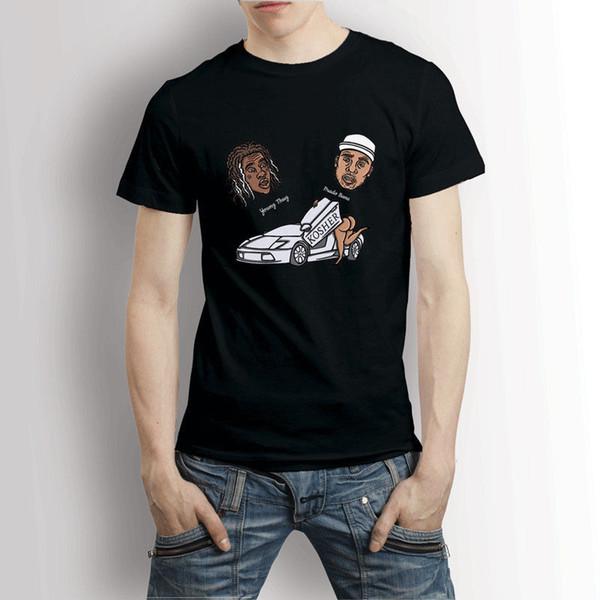 Junger Verbrecher Prado verbannt reines T-Shirt Männer T-Shirt 2018 Qualitäts-Marken-Mann-T-Shirt zufälliger kurzer Ärmel 100% Baumwolle kühl