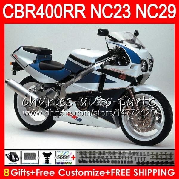 Black white Kit For HONDA CBR400 RR NC23 CBR400RR 94 95 96 97 98 99 80HM.57 CBR 400 RR NC29 CBR 400RR 1994 1995 1996 1997 1998 1999 Fairing