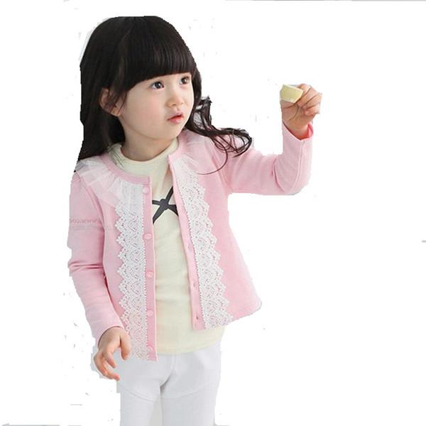 Abbigliamento per bambini ragazze primavera autunno maglione ultimo cappotto casual a maniche lunghe cardigan cappotto di pizzo per bambina 3 4 5 6 7 8 anni
