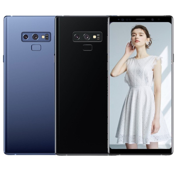 ERQIYU Goophone note9 smartphones Unlocked GPS Android 9.0 dual sim shown 128G ROM 4G LTE note MP3 cell phones