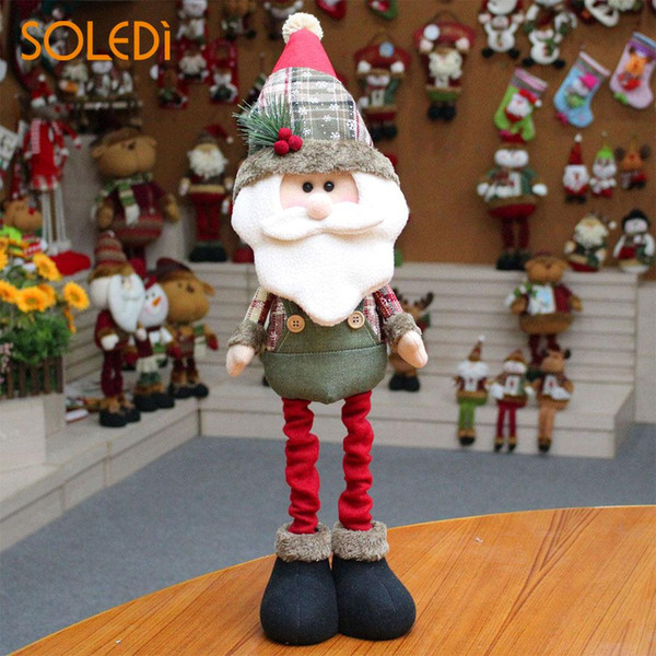 Cute Santa Claus Ornaments Snowman Decor Christmas Dolls NEW Flannel Colorful Toy Party Home Gifts Xmas