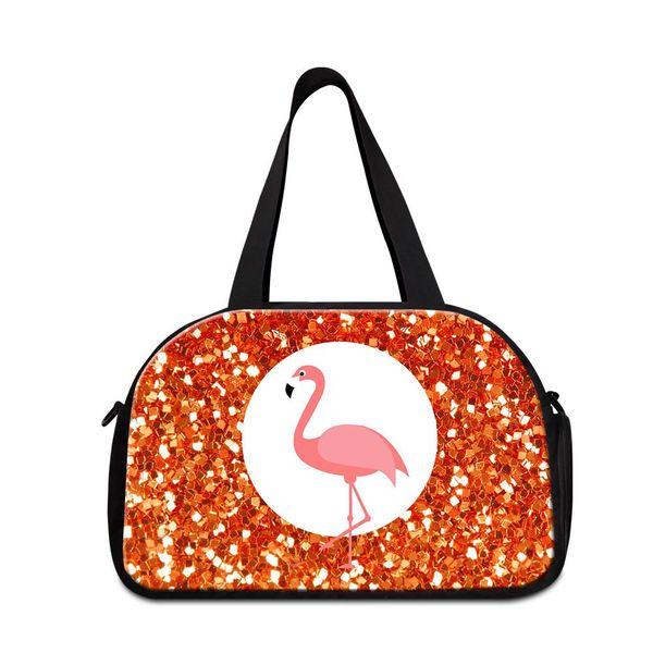 Pink Flamingo Duffel Bag Flamingos Gym Bags w//SHOE POCKET
