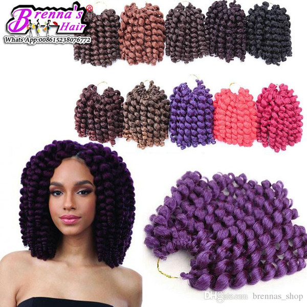 African hairstyles free styles no shedding synthetic bouncy curly weft 2x wand curly braids marley braids hair extension bundles for USA UK
