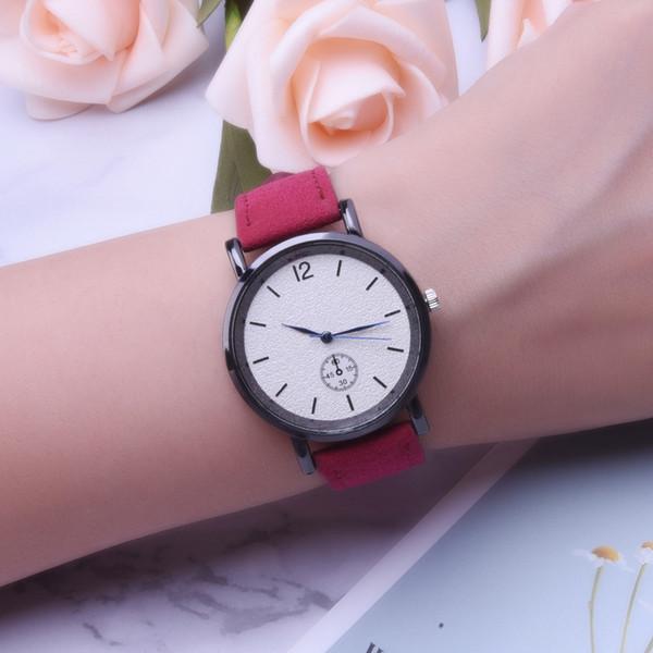 Melhor venda de novas senhoras relógio pequeno mostrador decorativo escala simples relógio de quartzo coreano