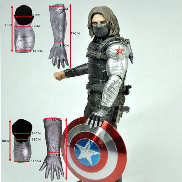 2019 2016 New Winter Soldier Arm Captain America 3 Bucky Barnes Arm Armour  Cosplay Avengers High Level Latex Man Hot Sale From Bfjcosplay, $40 21  