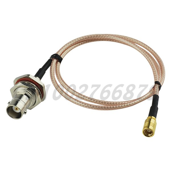 top popular 1.7ft 50cm RF BNC Jack bulkhead with O-ring to SMB Jack female Straight RG316 Pigtail Cable Antenna Feeder cable assembly 2021
