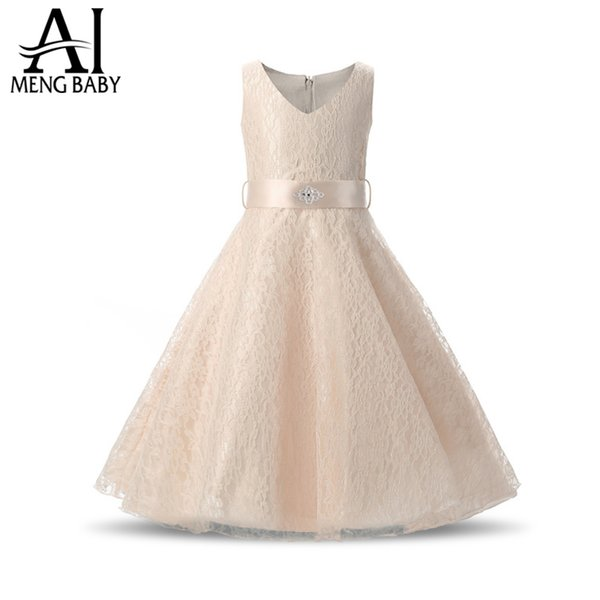 2017 Flower Wedding Party Girls Dresses Princess Events Prom Gowns Clothes Girl Dress Ceremony Children Kids Dresses For Girls