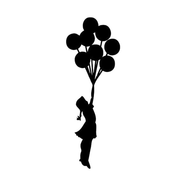 Balloon Girl Wall Sticker Art Home Decor Vinyl Wall Decal Beauty Temptation Body Car Stickers Decals