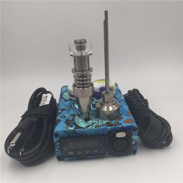 Pid controller enail Cheap Quartz E nail electric dab nail portable dab rig glass water bong