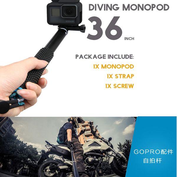 New Go pro Handheld Selfie Sticks Monopod for GoPro HERO 5 4 session sjcam sj4000 sj5000x sj9000 xiaomi yi 4k camera accessories