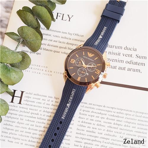 18 years new luxury brand comfortable rubber strap pin buckle watch leisure sportsman brand name watch