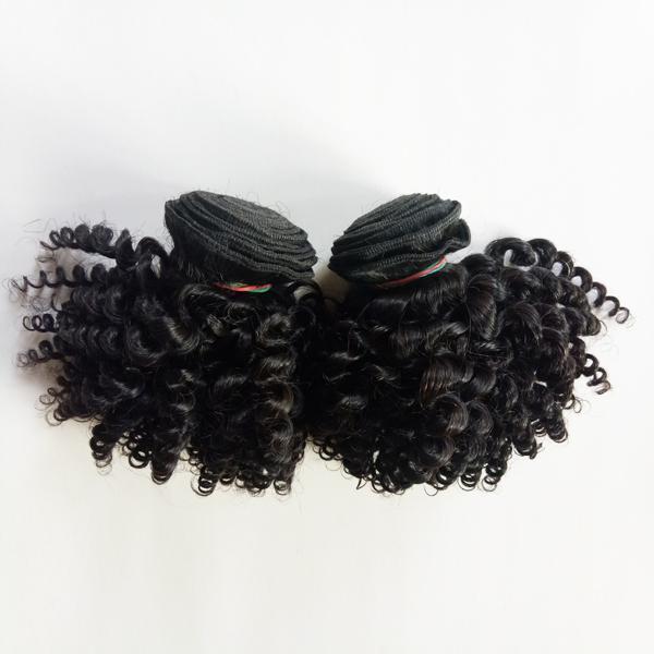 European Brazilian Virgin human hair double weft 8-12inch Kinky Curly Hot selling Peruvian Mongolian Indian remy Hair Factory Wholesale