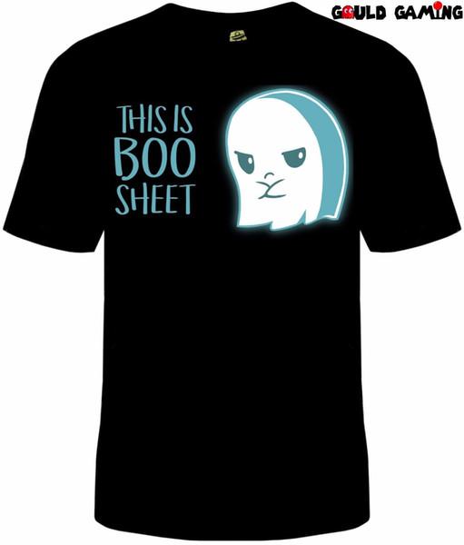Ceci est Boo Sheet T-Shirt Unisexe Adulte Drôle Halloween Automne Fantôme Tailles Nouveaux T-shirts Coton T-Shirt à la Mode T-shirt Imprimé Mode Homme top tee