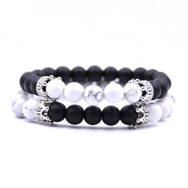 Natural Stone Charm Bracelet For Women Adjustable Bead Chain Elastic Couple Bracelets Unisex Jewelry Fashion Gifts For Ladies