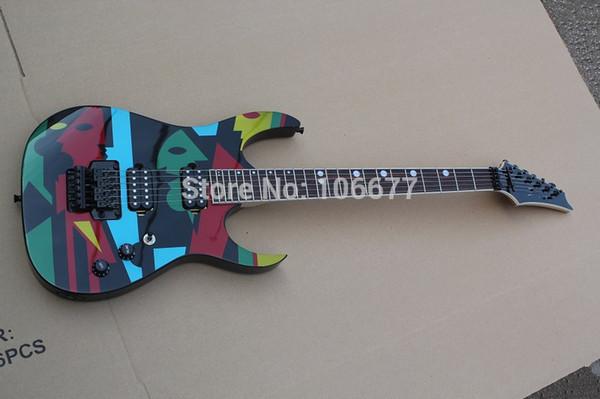 Compre Calidad Superior Nuevo Ibz Jmp 100 American Dream Theater Dibujo En Color Floyd Rose Guitarra Eléctrica Negro Hardware 7 V Envío Gratis A