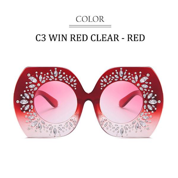 C3 Win Red Frame Farbverlauf Rot