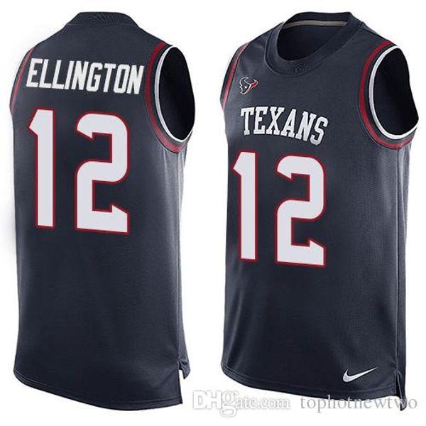 1dc6bdfcb Houston 4 Deshaun Watson Jerseys Texans Men 99 J.J. Watt 32 Tyrann Mathieu  90 Jadeveon Clowney Texans Navy Blue Player Tank Top