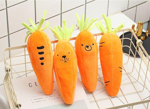 wholesale free shipping pencil bag 20pcs\lot carrot pencil bag middle school student big capacity pencil bag lovely lengthening013