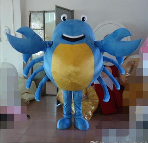 Nuevo estilo adulto lindo de la MARCA de dibujos animados nuevo Hollawoon profesional cangrejo azul traje de la mascota del vestido de lujo venta caliente traje de fiesta envío gratis