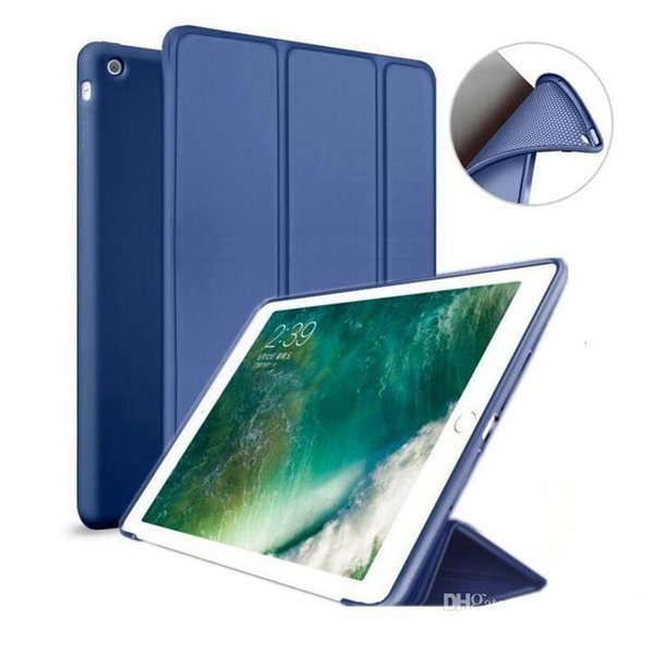 Wholesale Nice silicone soft smart leather case for apple 2017 2018 pro 10.5 air mini 4 3 2 1 cover case