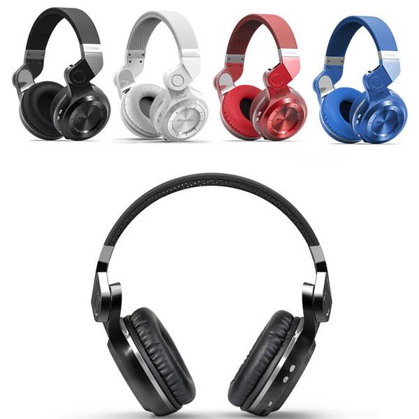 Bluedio T2 Plus Casque stéréo Bluetooth 4.1 sans fil Casque avec carte SD et radio FM avec sons graves graves