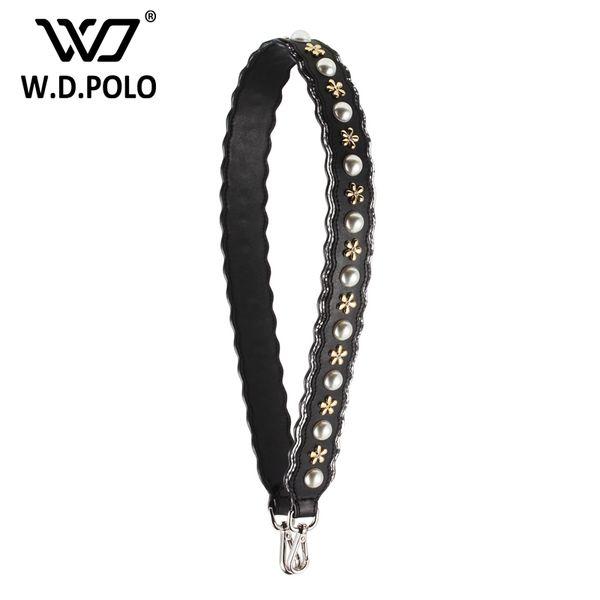 wholesale New Split leather pearl flowers design handbag belt popular trendy bags strap bag part easy matchings bag accessory C018
